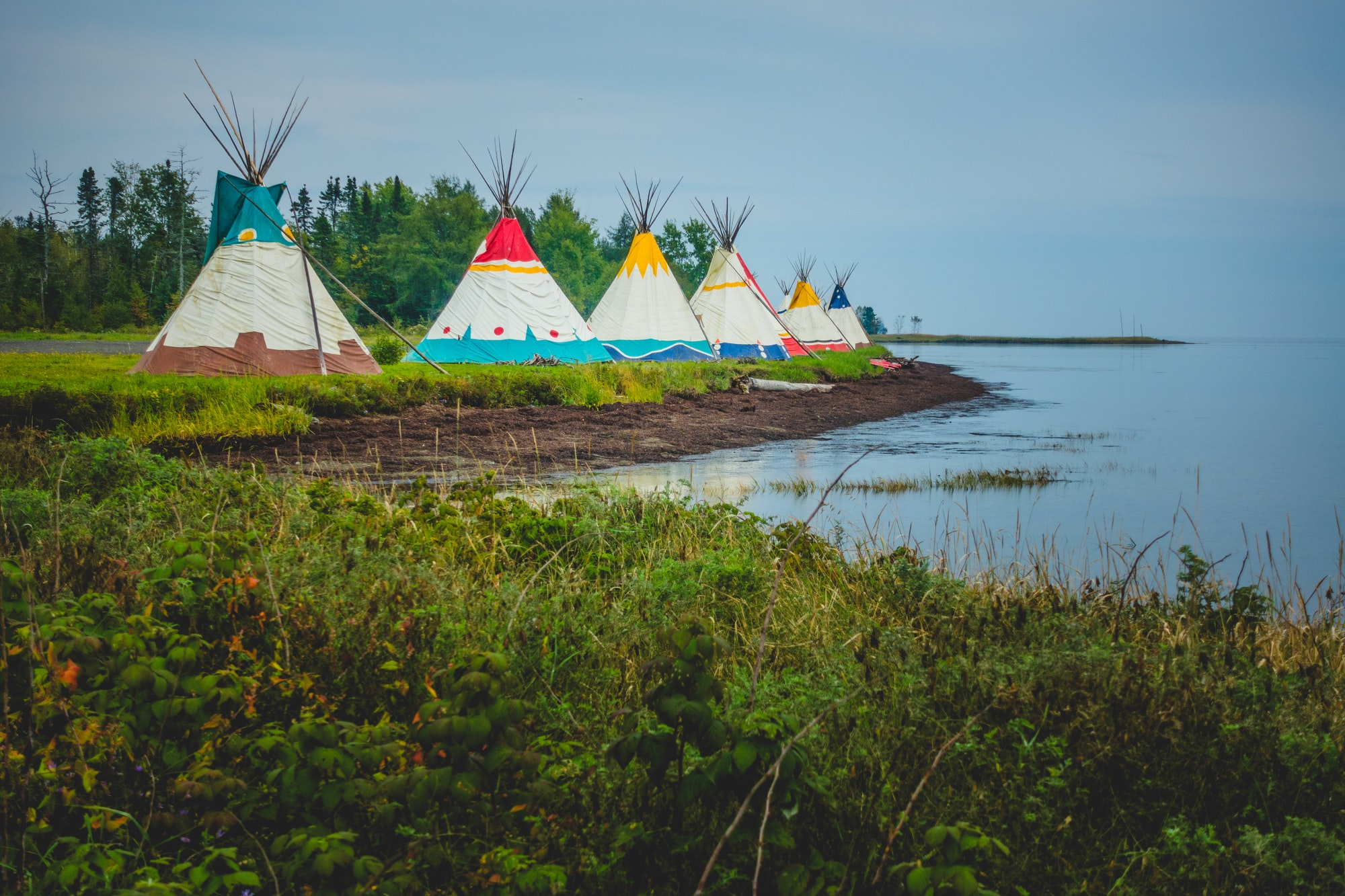 Traditional tents of native Americans